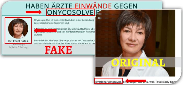Onycosolve Fake Arztbericht