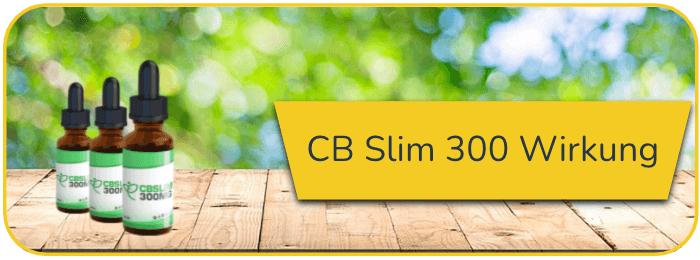 CB Slim 300 Wirkung