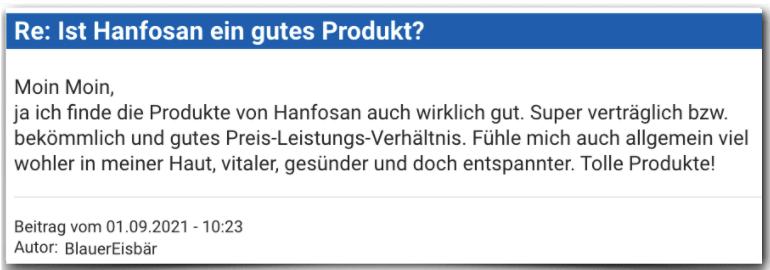 Hanfosan Erfahrugsbericht Bewertung Erfahrungen Hanfosan