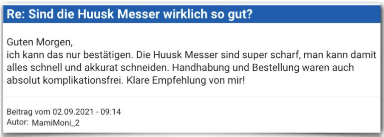 Huusk Messer Erfahrungsbericht Bewertung Erfahrungen Huusk Messer