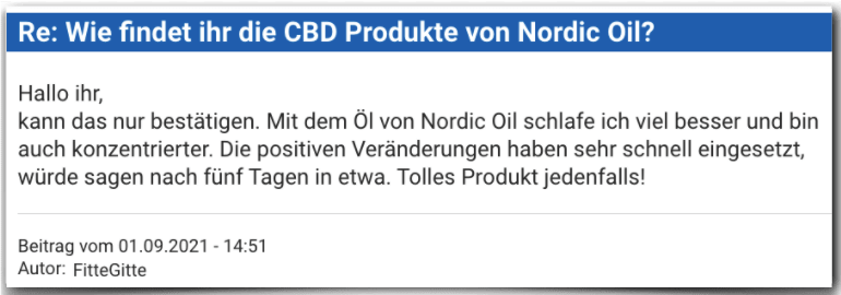 Nordic Oil Erfahrungsbericht Bewertung Erfahrungen Nordic Oil